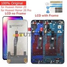 מקורי עבור Huawei Honor 20/כבוד 20 פרו LCD תצוגת מסך מגע Digitizer עצרת LCD תצוגת 10 נקודת מגע חלקי תיקון