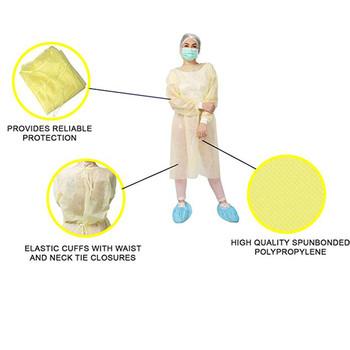 Jednorazowa odzież ochronna izolacyjna ochrona przed pluciem i ochrona przed plamami olejowymi odzież ochronna Dropship Z4 tanie i dobre opinie Poliester 200422 Fartuchy laboratoryjne Suknem