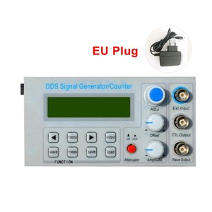 Embedded Panel DDS Function Signal Generator/Teaching Instrument Signal Frequency Counter with Adapter EU
