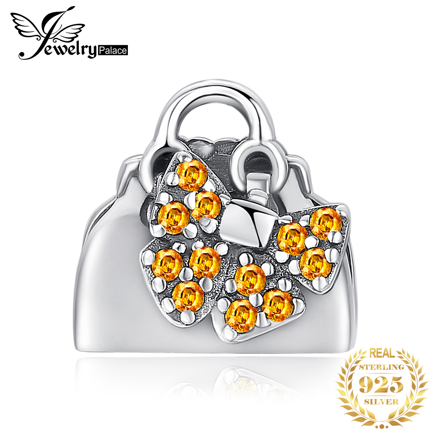 JewelryPalace Handbag 925 Sterling Silver Beads Charms Silver 925 Original For Bracelet Silver 925 Original Beads Jewelry Making