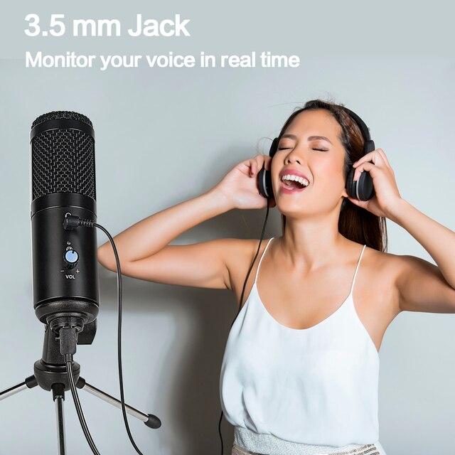 конденсаторный usb микрофон конденсаторный компьютер для пк фотография