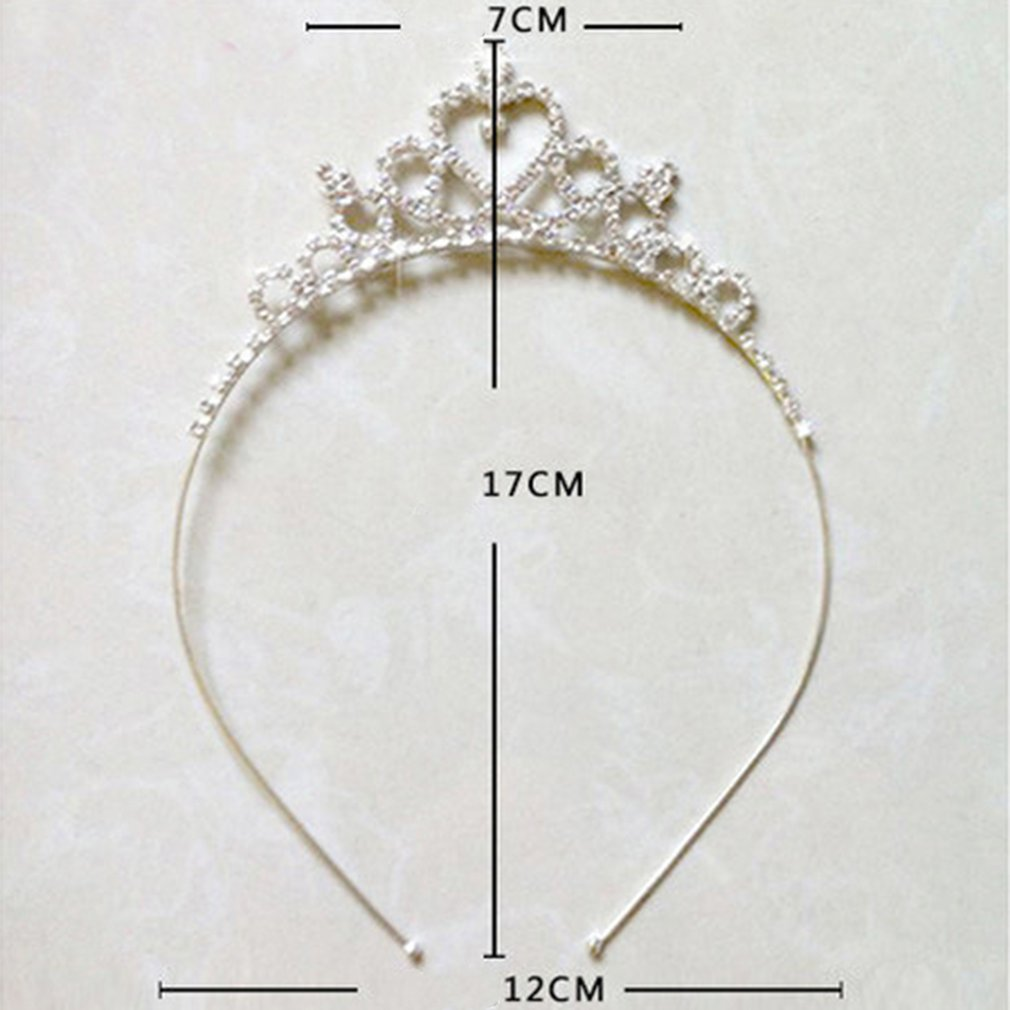 Baby Kids Girls Bridal Tiara Diamond Party Crown Hair Hoop Headband Crystal