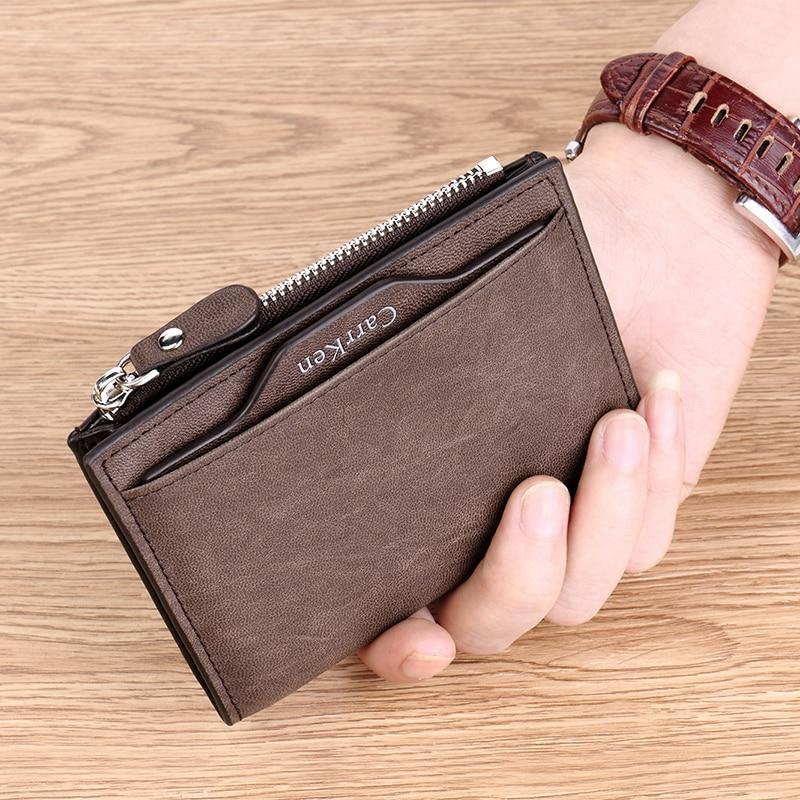 New Arrival Vintage Men Wallets Coin Pocket Multi-function driving license Small Wallet Men Purse Card Holder Money Bag Carteira