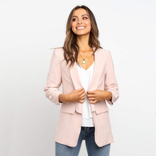 JODIMITTY 2020 Women Suit Jacket Formal Notched Office Lady Jacket Casual Pockets Veste Femme Outerwear Open Stitch
