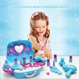 Image 4 - Disney, brinquedos para meninas, princesa, frozen, vestidos, maquiagem, conjunto, brinquedos infantis brinquedos, brinquedos