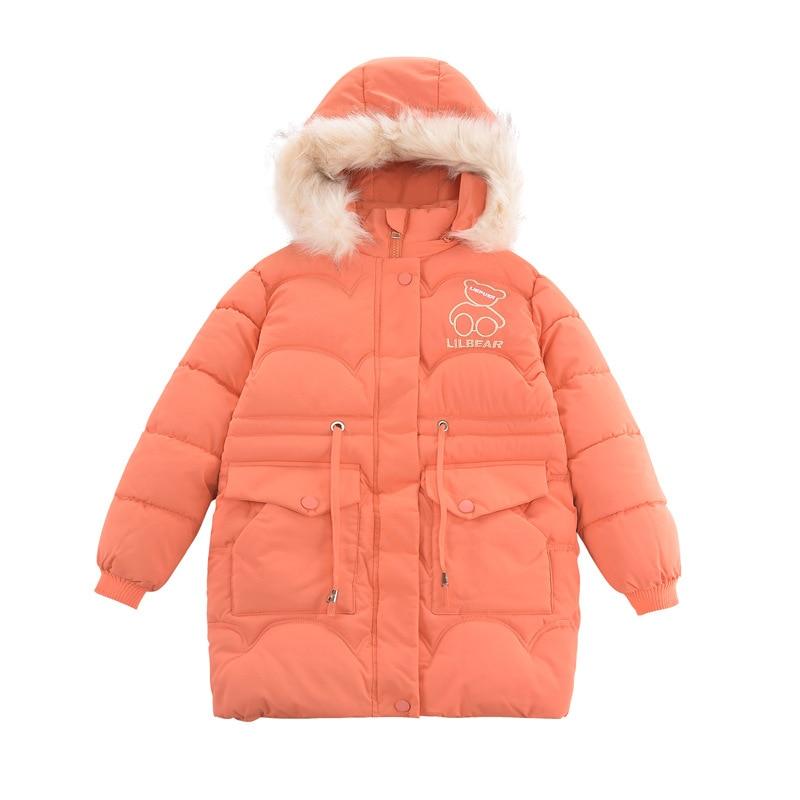 jaqueta de comprimento médio grossa para meninas,