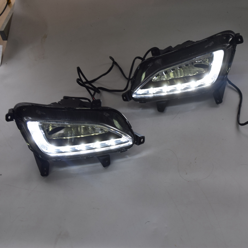 LED DRL Daytime Running Light Fog Lamp 12V Car Running Lights For Hyundai Tucson 2015-2018