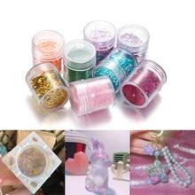 4 bouteilles/ensemble de paillettes pour ongles colorés Art des ongles paillettes poudre UV résine époxy Pigment de remplissage pour bijoux à bricoler soi-même faisant des accessoires