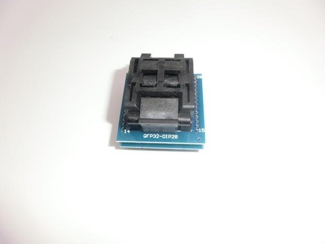 Ücretsiz kargo Evrensel IC adaptör soketi LQFP TQFP QFP 32 DIP 28 TQFP32 QFP32 to DIP28 IC Adaptörleri ATMEL AVR Çipleri