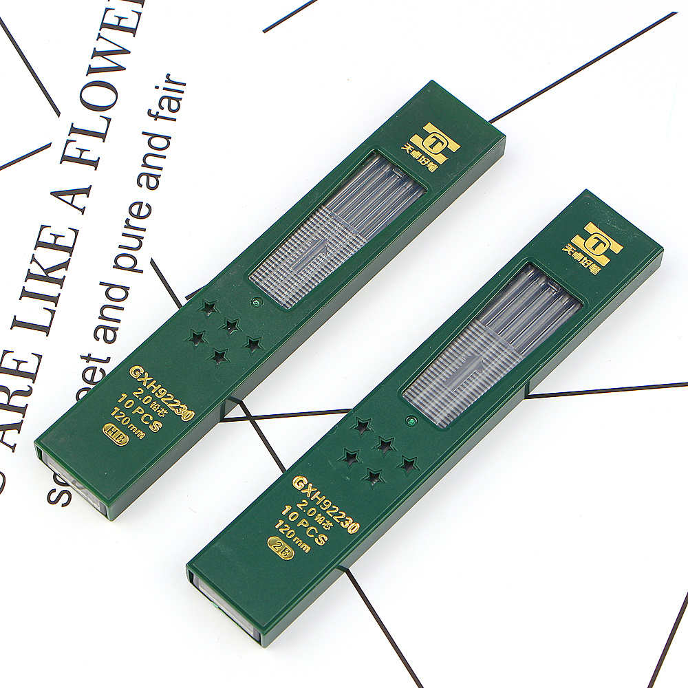 10pcs 2B//HB 2mm Mechanical Pencil Lead Refill 120mm Length Pencil Replacement