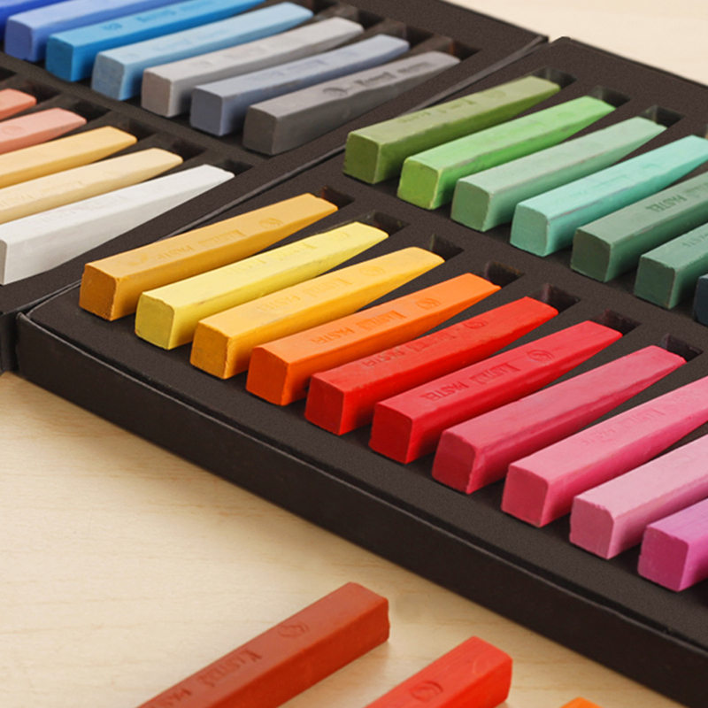 Art Painting Colored Chalk Powder Brush Chalk Hair Stick Office School Art Supplies Creative Painting Crayon Chalk Pastels