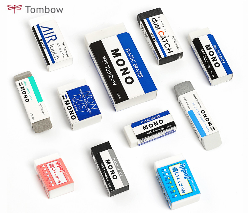 1pc Japan Tombow MONO/Scrub/Dust Catch/Non Dust/Air Touch/Ippo! Eraser Super Clean Professional Drawing High Gloss Rubber