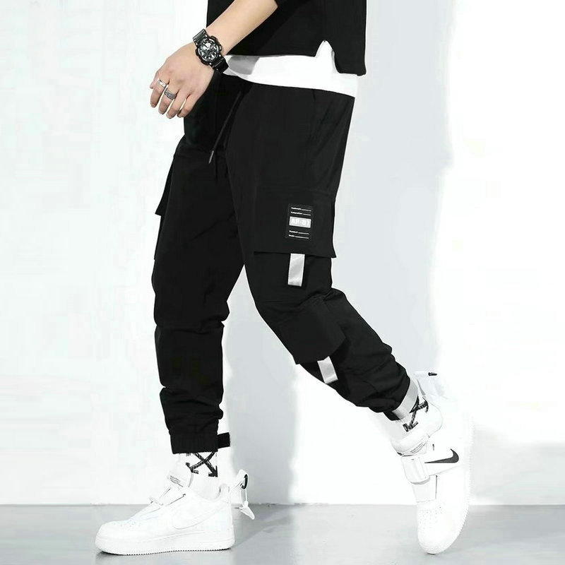 2020 Streetwear Joggers Hip Hop Trousers Men Big Pocket Black Harem Pants Men Clothing Fashions Elastic Waist Korean Style Pants