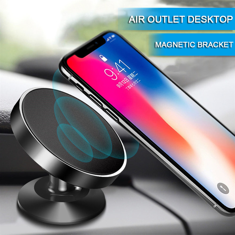 360 Degreerotating Magnetic Mobile Phone Holder Air Outlet Car Suction Cup Mobile Phone Bracket For IPhone For Huawei For Xiaomi