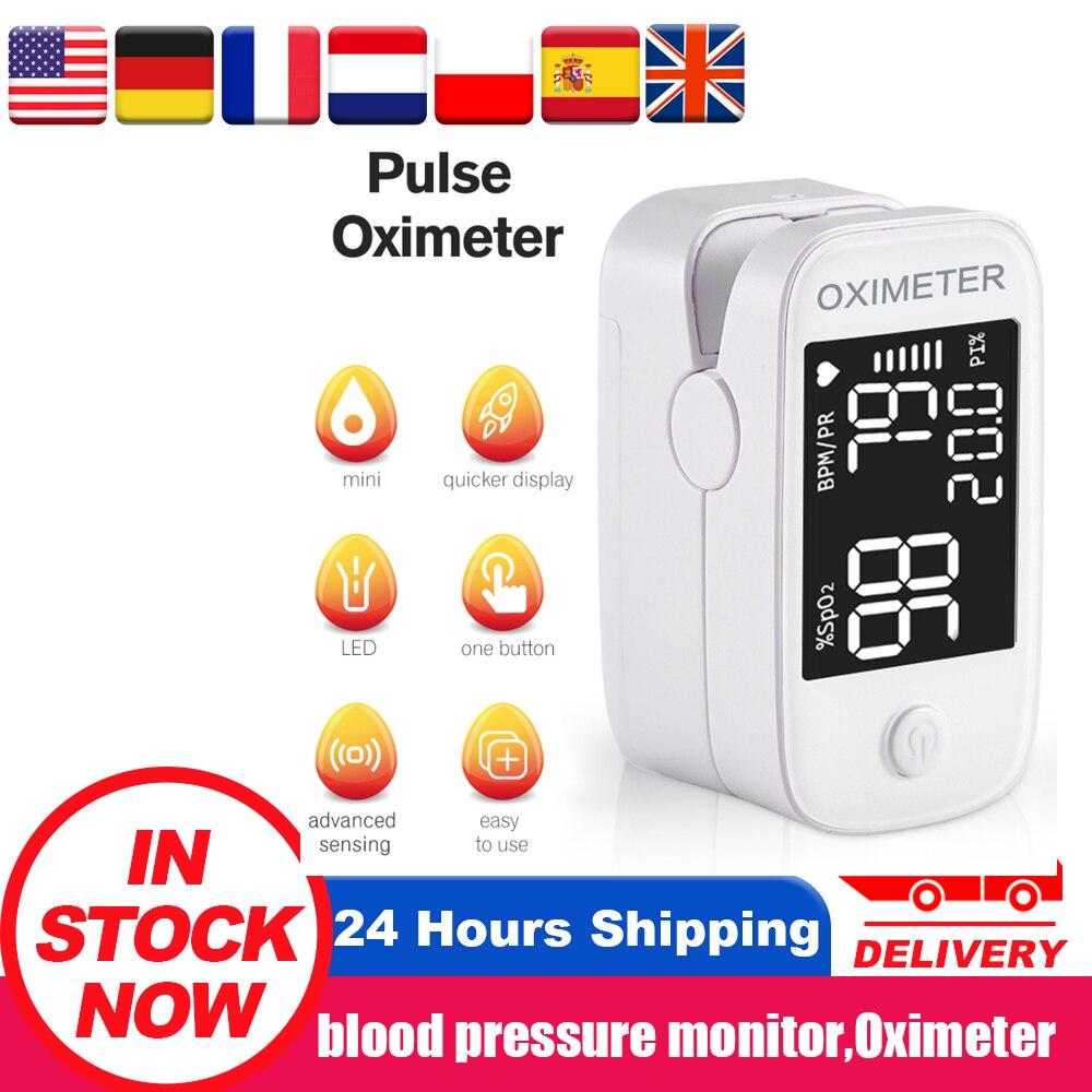 Portable Finger Pulse Oximeter Oximetro OLED Blood Oxygen Heart Rate Saturation Meter Oximetro De Dedo Saturometro Monitor