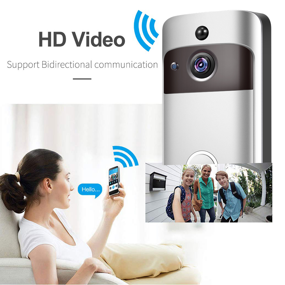 Image 3 - Smart IP Video Intercom WI FI Video Door Phone Door Bell WIFI Doorbell Camera For Apartments IR Alarm Wireless Security Camera-in Doorbell from Security & Protection