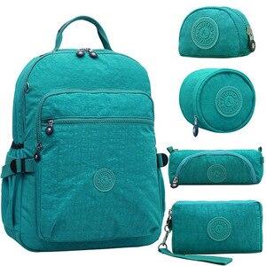 Image 1 - ACEPERCH Casual oryginalny plecak szkolny dla nastolatki Mochila Escolar torby podróżne szkolne plecak na laptopa z małpim brelokiem
