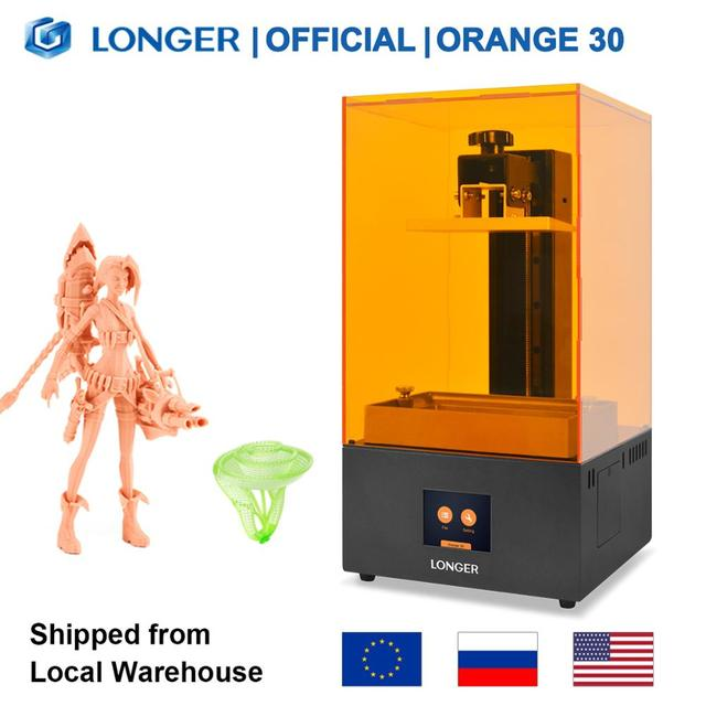 LONGER Orange 30 SLA 3D Printer with High Precision 2K LCD 3D Printer kit with Resin Matrix UV LED Full Metal Body 3D Print