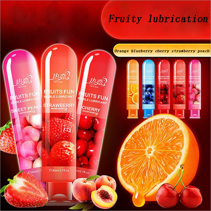Fruit Flavour Lubricant Water Based Oil Sex Lube Body Intimate Massage Oil Gel Anal Vagina Lubricant For Couple Sex Product