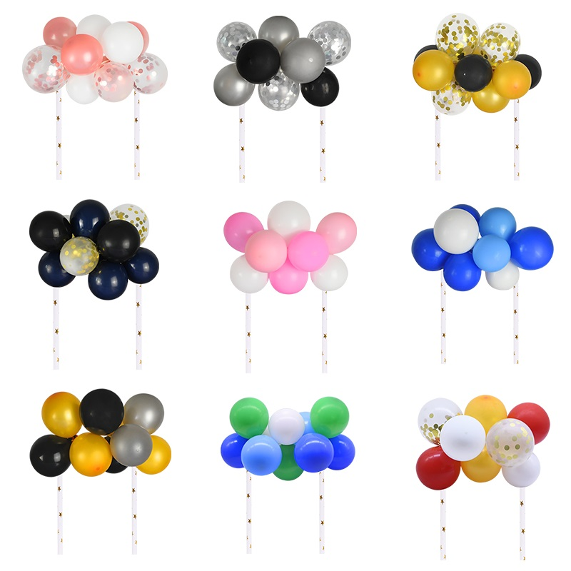 10pcs/set 5 inch Latex Balloons Arch Kit DIY Balloon Garland Cake Topper for Baby Shower Wedding Birthday Party Cake Decoration-0
