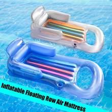 Colchón flotante inflable para nadar en la playa, colchón flotante para piscina, cama para dormir para deportes acuáticos, fiesta 161x84cm