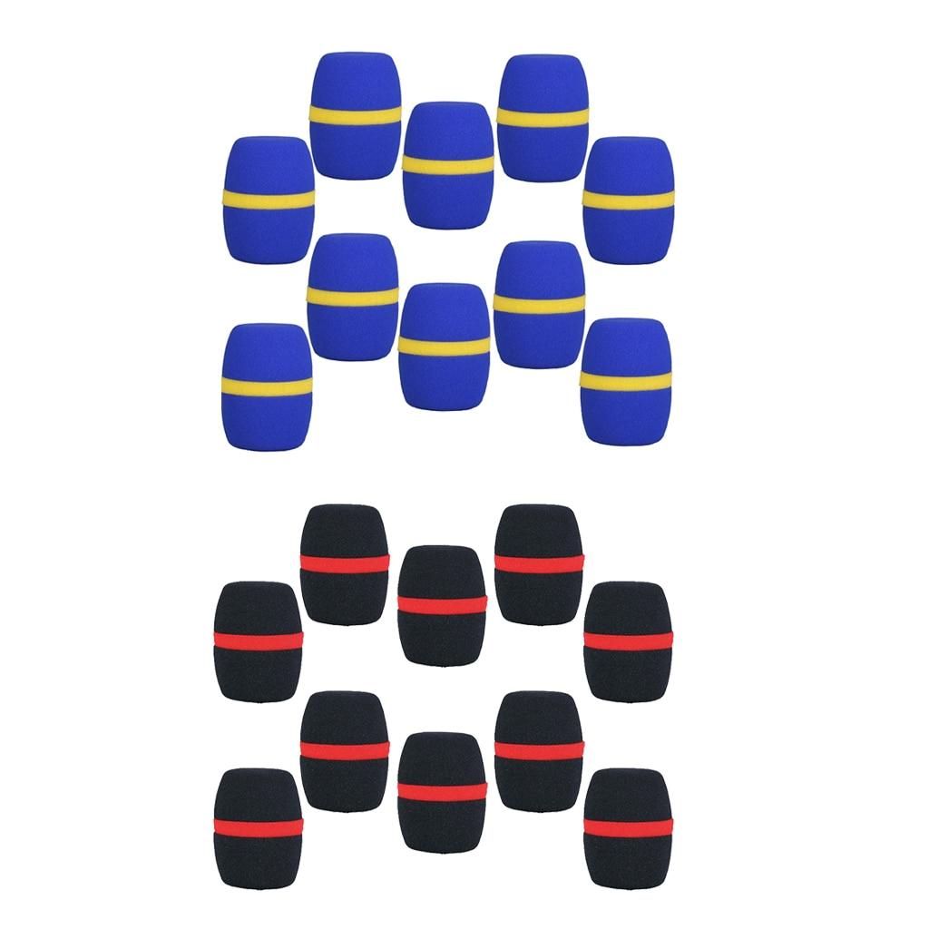 20 Pieces Handheld Stage Microphone Windscreens Foam Mic Covers Wind Muffs Blue+Black