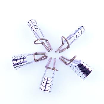 5 sztuk wielokrotnego użytku przedłużenie paznokci formy do paznokci dla żelowy lakier do paznokci uv przewodnik Builder zestaw narzędzi akrylowe francuski porady Manicure do paznokci porady tanie i dobre opinie Aluminum Formularz paznokci 5pcs set 2019-038 Silver