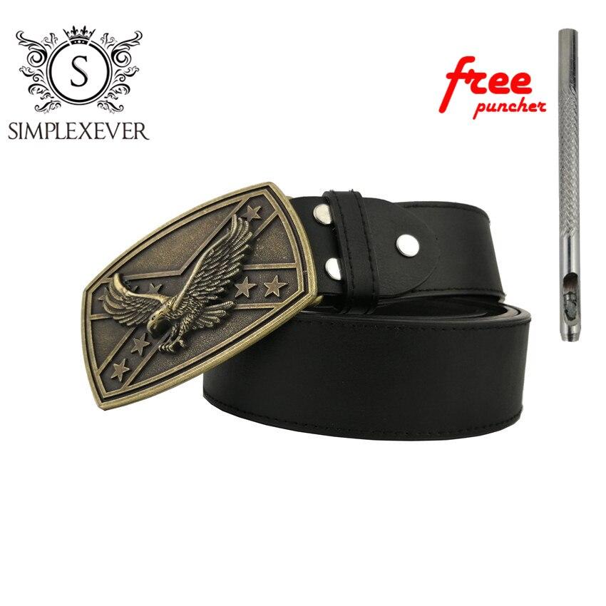 Rectangular Bronze Color Western Flying Eagle Belt Buckle Suitable For 4cm Width Belt Animal Belt Buckle With Leather Belt
