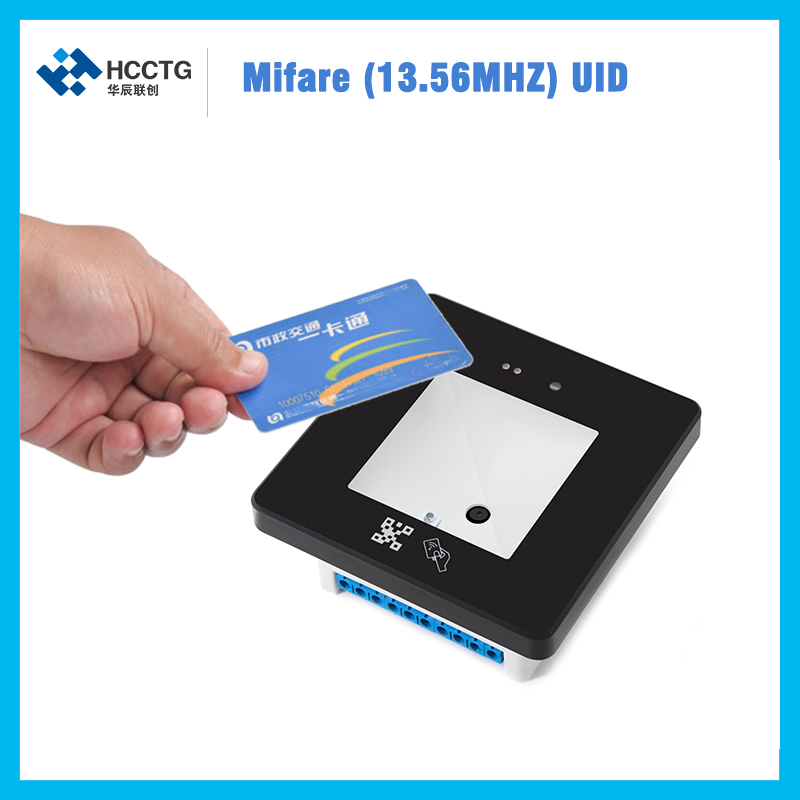 multi interface leitor de cartao id ic wiegand26 rs232 usb rs485 ttl 1d 2d qr codigo