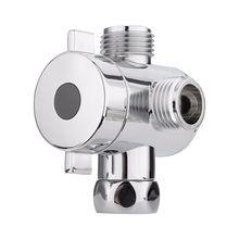 1/2 дюймов 3 Way Т-адаптер Туалет Биде для ванной Насадки для душа рычаг установлен переключающий клапан