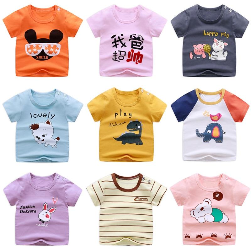 Children's Short Sleeve T-shirt Cotton Girls Summer Baby Clothes 2020 Boys Tops Marvel Cartoon Shirt O-Neck Casual Wearing Kids