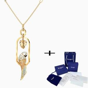 Новый продукт Минимальная скидка 15% SWA 2020 новый Тропический попугай листья ожерелье, чтобы дать девушке день рождения романтический подарок