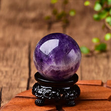 Natural Dream Amethyst Ball Polished Globe Massaging Ball Reiki Healing Stone Home Decoration Exquisite Collect Souvenirs Gift