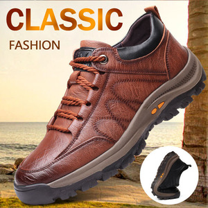 Feuilles Voletant 2020 New Fashion Men's Casual Leather Shoes Classic Outdoor Sports Hiking Shoes Trekking Men's Shoes 100091