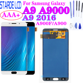 For Samsung Galaxy A9 2016 A900 A9000 LCD Display Touch Screen Digitizer Assembly Replacement Parts For samsung A9 LCD Display lcd display for samsung galaxy j5 prime g570 g570f g570m on5 2016 touch screen digitizer assembly replacement parts 5 0