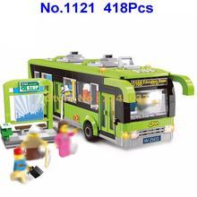 1121 418 шт городской автобусной станции, светящийся строительный блок, 3 фигурки, игрушка