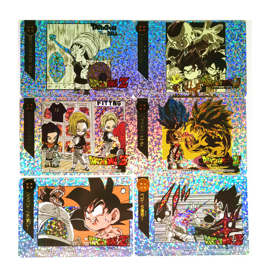 18pcs/set Super Dragon Ball Z Q Heroes Battle Card Ultra Instinct Goku Vegeta Game Collection Cards