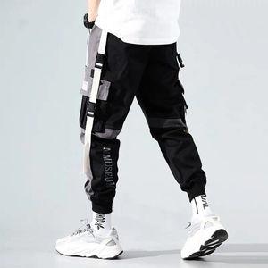 Image 3 - Мужские шаровары в стиле хип хоп, брюки для бега 2020, мужские брюки, черные штаны для бега с эластичной резинкой на талии, повседневные штаны для мужчин s Jogger
