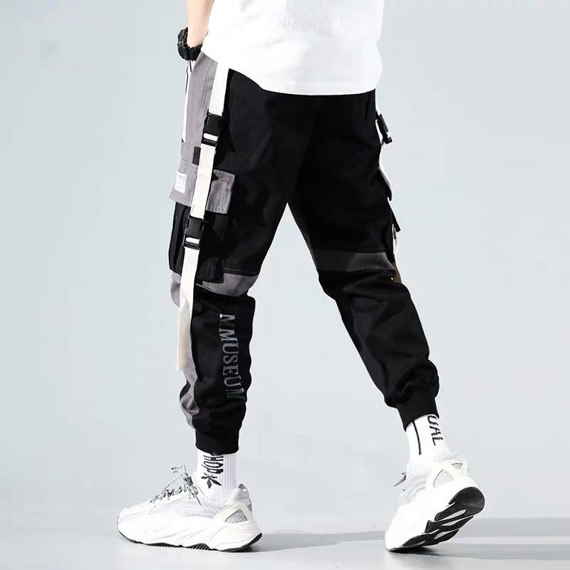 Image 3 - Hip Hop Harem Men Joggers Pants 2020 Male Trousers Black Jogger Pants  Elastic Waist Casual Pants Mens JoggerCargo Pants   -