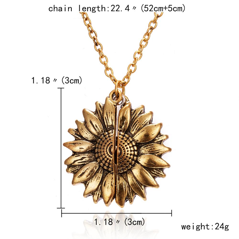 Sunflower Necklace | You Are My Sunshine Pendant 1
