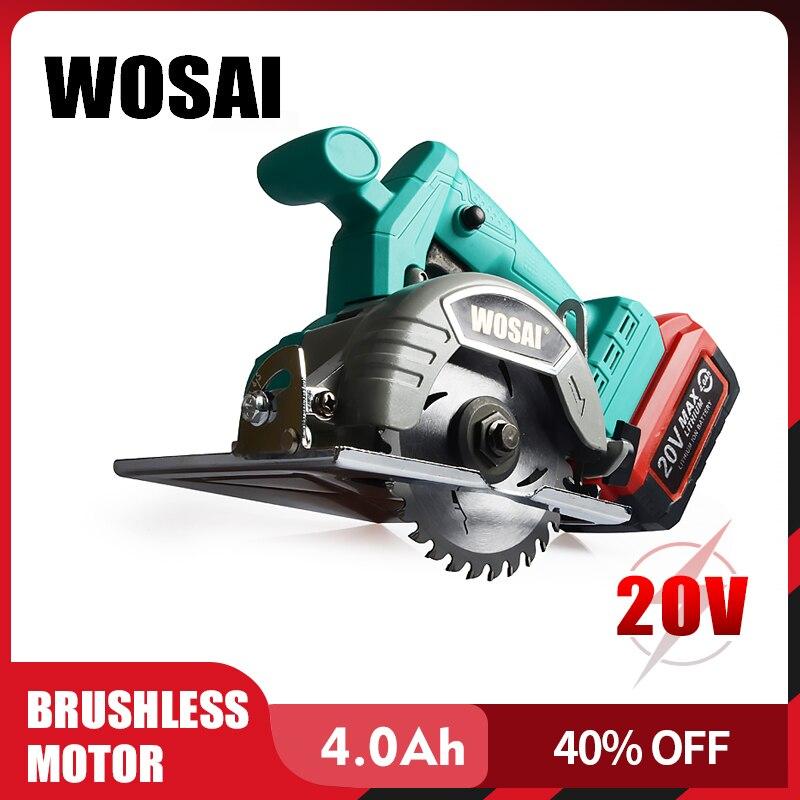 WOSAI 20 в бесщеточная циркулярная пила электроинструмент пильные диски 110 мм лезвие для циркулярная пила по дереву Высокая мощность и машина д...
