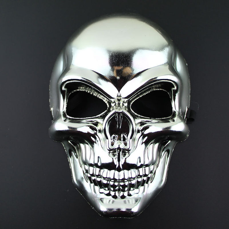 1Pcs Reflective Fearsome Halloween Necessary Skull Mask Funny Children Cartoon Hats Party Entertainment Accessory