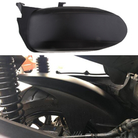 46cm motocicleta fender preto fosco moto pneu traseiro hugger fender paralama para yamaha xmax 250 300 acessórios da motocicleta