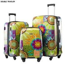 Trolley Luggage Travel Suitcase Spinner Hariside 24/28inch 20-Bag-Set Wheels-Flowers