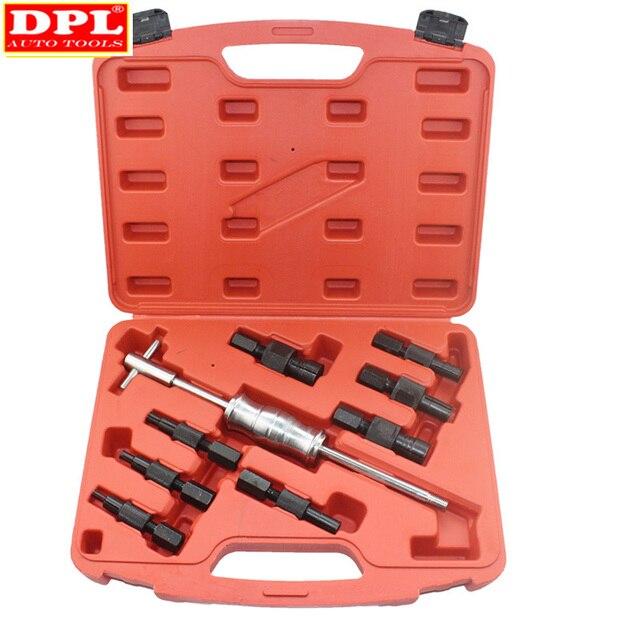 9pc kit buraco cego slide martelo piloto extrator rolamento interno extrator kit de remoção