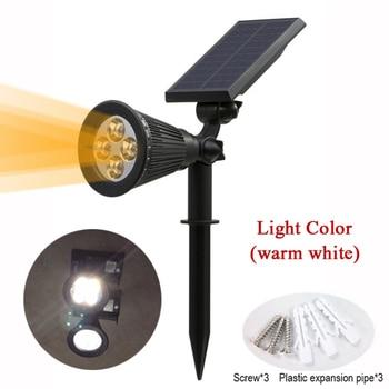 T-SUNRISE Solar Powered 4/7 LED Lamp Adjustable Solar Spotlight In-Ground IP65 Waterproof Landscape Wall Light Outdoor Lighting 2