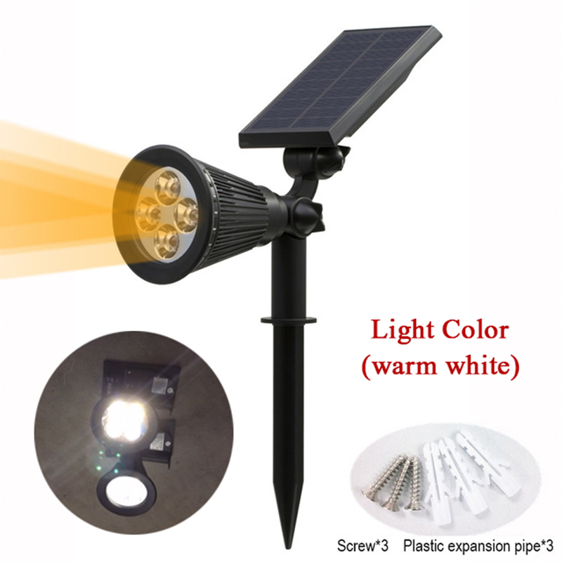 T SUN In Ground IP65 Solar Powered Spotlight with 4 to7 LEDs and Rechargeable Lithium Battery 1