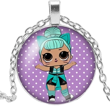 HOT! New Charm Girl Necklace Handmade Necklace Anime Cartoon Surrounding Characters Photo Glass Pendant Necklace Gift Jewelry hot new charm girl necklace handmade necklace cartoon anime white cat glass pendant necklace gift jewelry