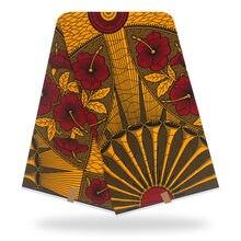 Лусамбо Анкара Африканского Воска Печати Ткань Узор Волна Мягкий 100% Хлопок Голландия Батик Y702