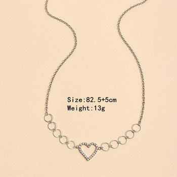 Women Fashion Rhinestone Heart Waist Chain Belt Jewelry Crystal Belly Body Chain Sexy Party Jewelry Gift 2